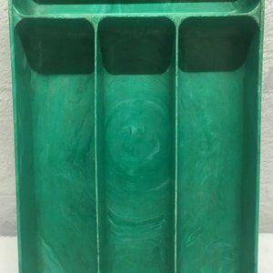 VINTAGE GREEN COLUMBUS PLASTIC LUSTRO-WARE DIVIDED